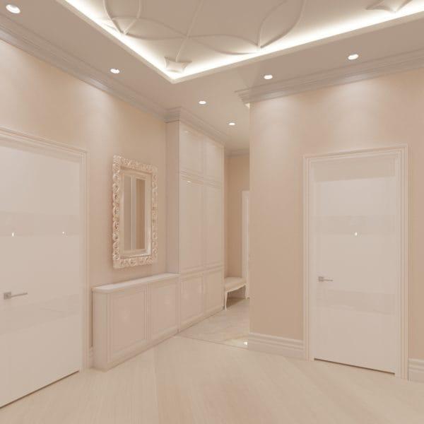 Дизайн-проект холла в стиле современной классики