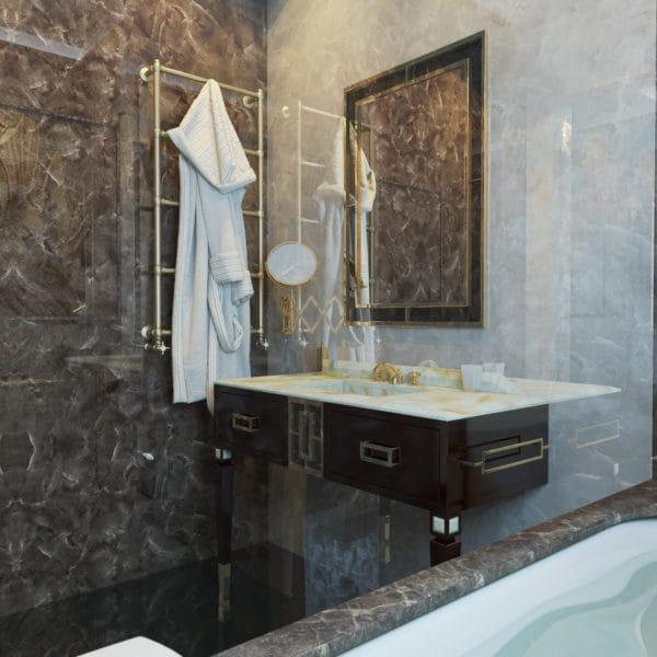 Дизайн ванной в доме