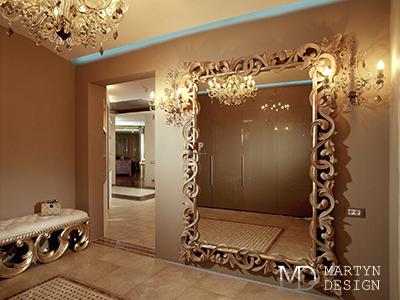 Волшебные зеркала в дизайне интерьера гостиной и ванной комнаты