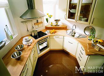 Дизайн маленькой кухни - фото, планировка, мебель