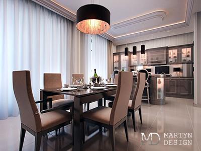 Дизайн интерьера столовой для ценителей беззаботной классики