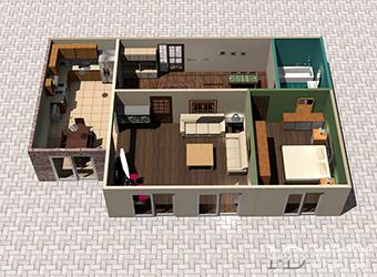 Перепланировка двухкомнатной квартиры 85 м2 в трехкомнатную