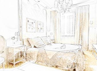 Дизайн спальни. Эскиз и фото интерьера спальни после ремонта