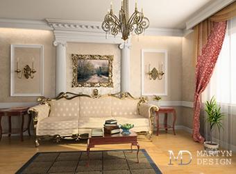 Интерьер квартиры в стиле современной французской классики