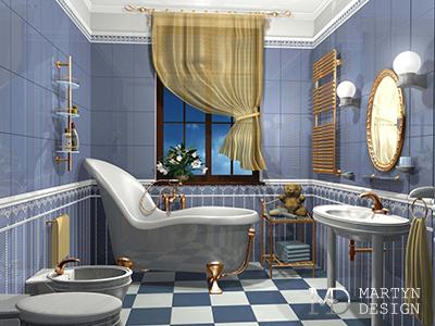 Дизайн ванной комнаты для маленькой девочки
