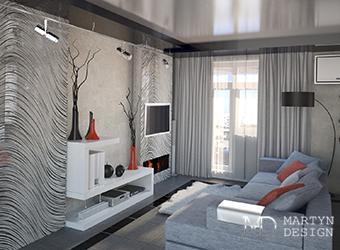 Дизайн однокомнатной квартиры для молодого человека
