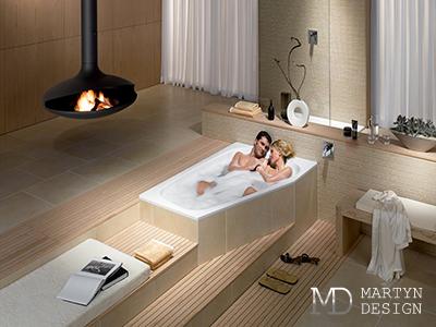 Дизайн ванной комнаты для молодой семьи