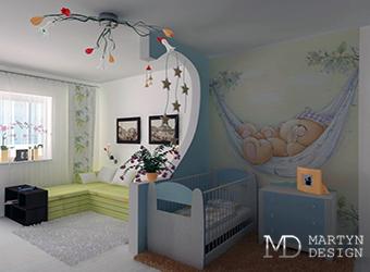 Дизайн однокомнатной квартиры с ребенком