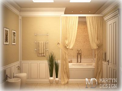 2 варианта дизайна ванной комнаты в классическом стиле