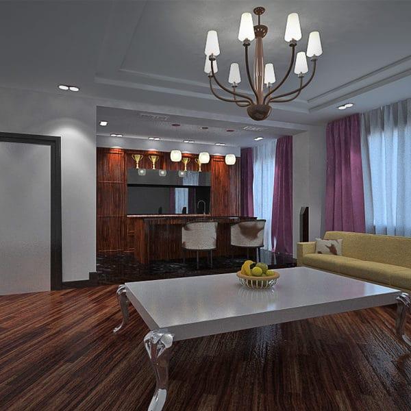 Дизайн-проект однокомнатной квартиры 40 кв. м