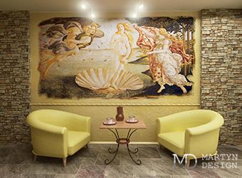 Создание настенной фрески в процессе ремонта квартиры