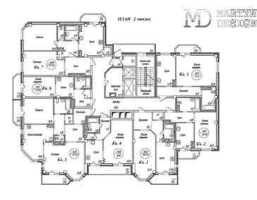 4 варианта перепланировки квартиры свободной планировки 162,5 м²