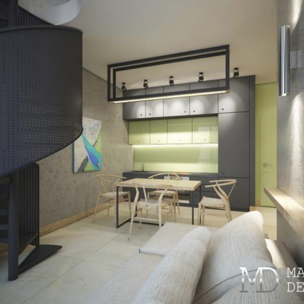 Дизайн двухкомнатной квартиры 54 кв. м в стиле минимализма