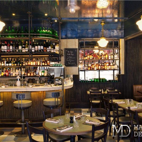 Дизайн проект бара ресторана в английском стиле