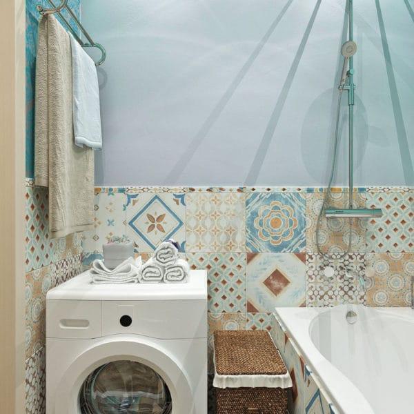 плитка пэчворк в ванной комнате