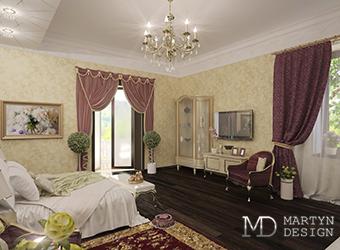 Дизайн хозяйской спальни в загородном доме