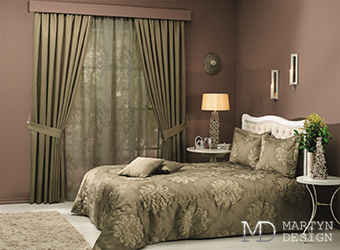 Мотивы путешествий в интерьере спальни в стиле арт-деко