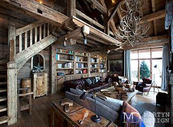 Мотивы северной природы в дизайне гостиной