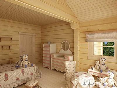 Дизайн детской комнаты в загородном доме