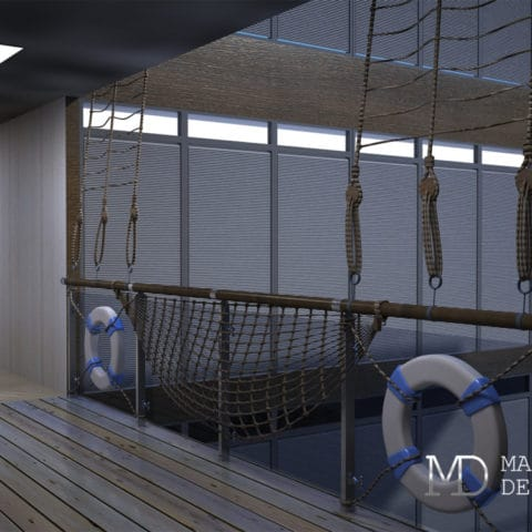 Дизайн проект интерьера лаундж зоны
