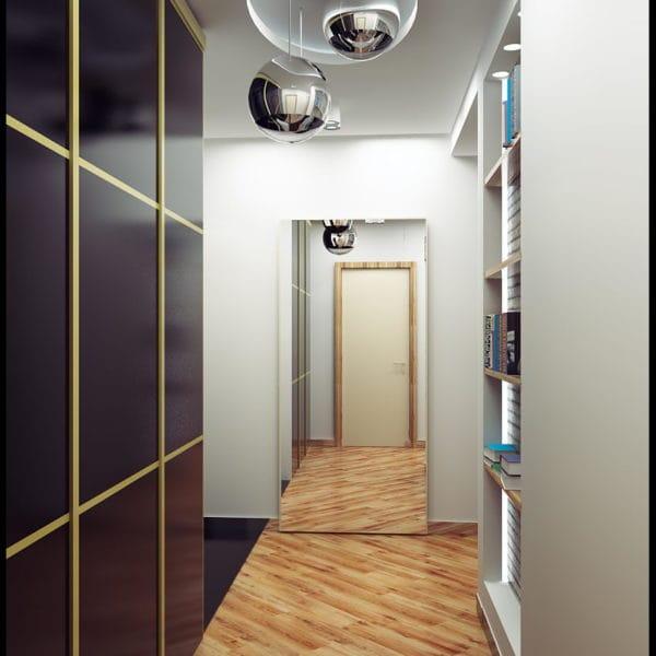 коридор в стиле фьюжн