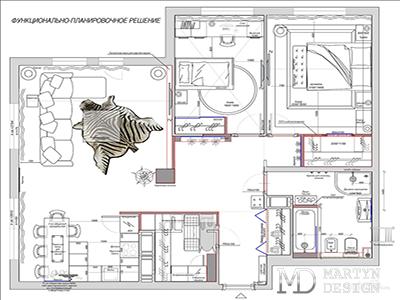 Дизайн квартиры в стиле лофт. Эскизы и планировки интерьеров