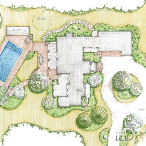 Ландшафтный дизайн проект участка