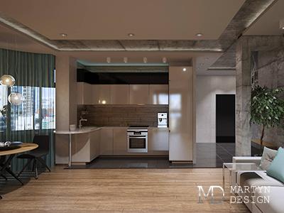 Дизайн квартиры-студии в Москве