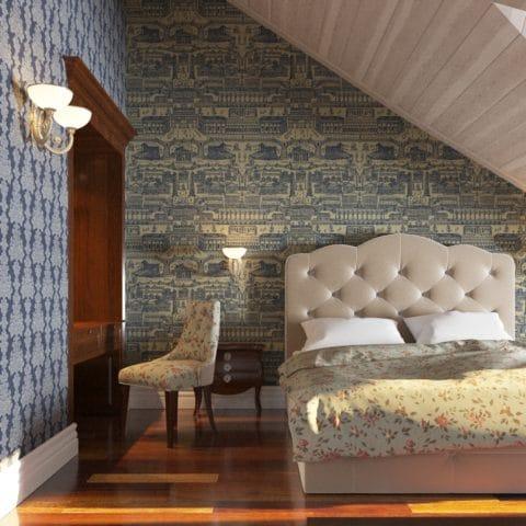 Дизайн спальни для гостей в загородном доме
