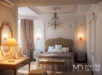 Дизайн роскошной классической спальни