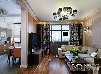 Дизайн интерьера кухни-гостиной в современной квартире