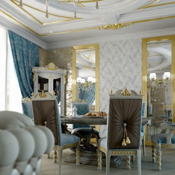 Интерьер загородного дома в классическом стиле