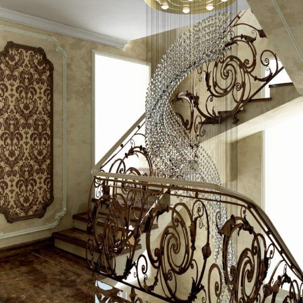 Дизайн второго этажа загородного дома