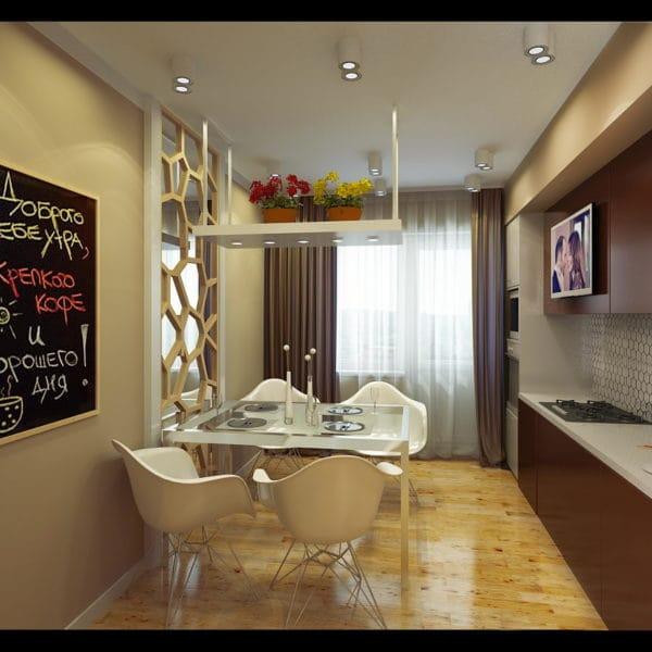 кухня и столовая в стиле фьюжн