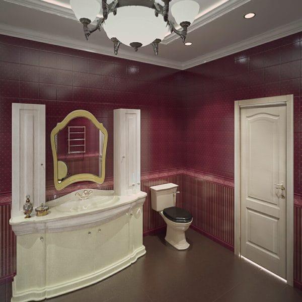 Дизайн проект ванной в загородном доме