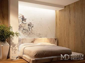 Дизайн современной спальни с элементами футуризма