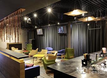 Интерьер стильного ресторана в лофте