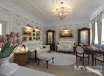 Дизайн спальни в квартире с элементами сталинского ампира