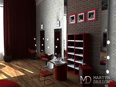 Графичный интерьер салона красоты: прекрасное впечатление с порога