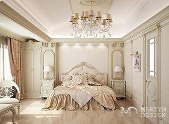 Дизайн элегантной бежевой спальни