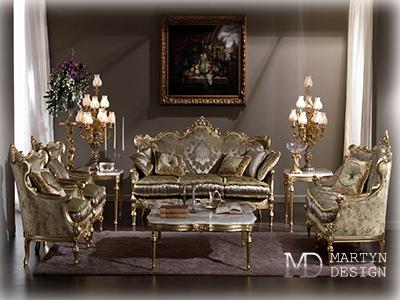 Антикварная мебель в интерьере гостиной