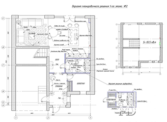 Планировка дома площадью 170.6 м2. Первый этаж