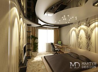 Дизайн-проект и фото готового интерьера спальни