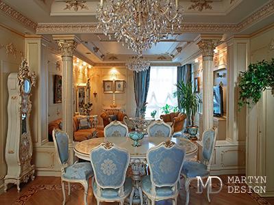 Декорирование интерьера гостиной в дворцовом стиле