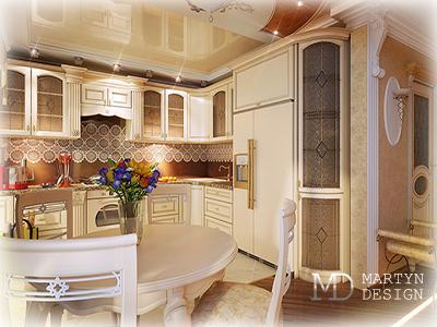 Дизайн белой кухни. Фото интерьеров