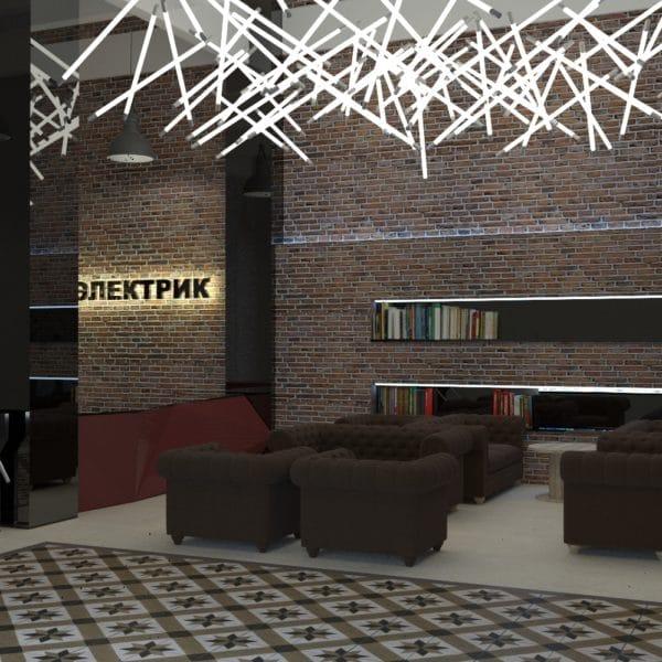 Дизайн холла в бизнес центре в Москве