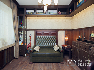 Декорирование интерьера кабинета в сталинском доме