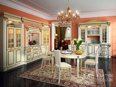 Декорирование интерьера кухни в соответствии с картой отделки