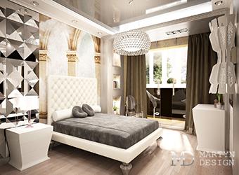 Интерьер элегантной современной спальни