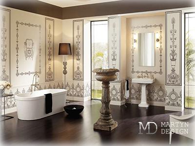 Дизайн ванной комнаты с античной мозаикой